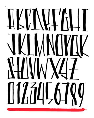 Hand drawn illustration or drawing of an urban style typography 版權商用圖片