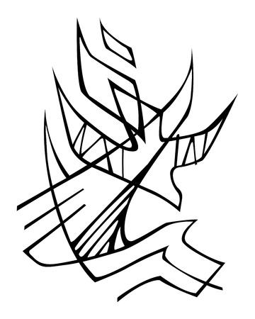 Hand drawn vector illustration or drawing of a Holy Spirit religious symbol