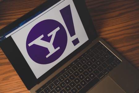 Dallas, Texas United States - 05102018: (Photograph of the Yahoo logo on computer screen)