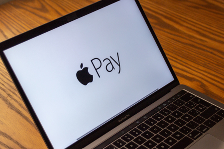 Dallas, Texas/ United States - 06/7/2018: (Photograph of the Apple pay logo on computer screen)