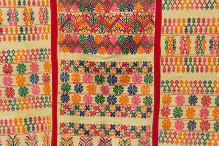 Oaxaca, Oaxaca  Mexico - 2172018: ( Hand made textile pieces in Textile Museum  in downtown Oaxaca Mexico )