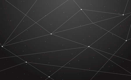 Hand drawn vector illustration or drawing of an abstract geometric background simulating universe