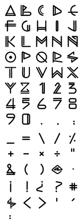 Vector illustration or drawing of an urban contemporary style font