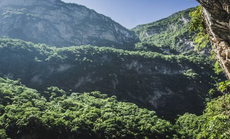 Detail photograph of Sumidero canyon in Chiapas Mexico