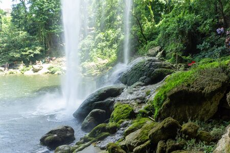 Detail photograph of Chifon waterfall in Chiapas Mexico Stockfoto