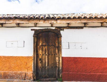San Cristobal de las Casas, Chiapas  Mexico - 21072019: Traditional house facade