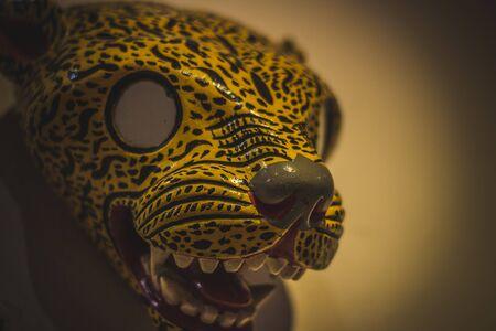 San Cristobal de las Casas, Chiapas  Mexico - 21072019: Jaguar traditional mask of San Cristobal de las Casas Chiapas Mexico