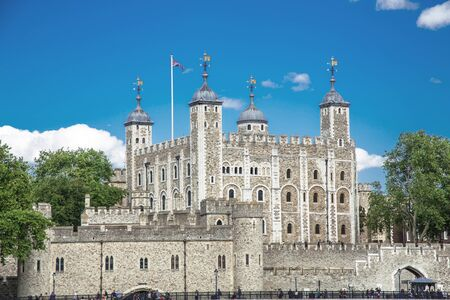 royality: The picture shows the Tower of London,seen from the River Thames  Editorial