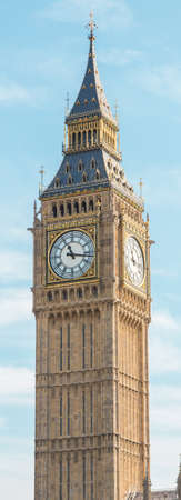 The picture shows the Big Ben tower  photo