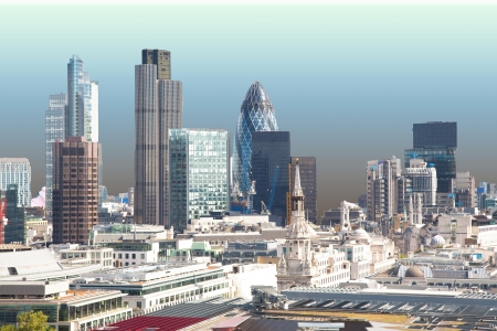 financial district: This picture shows the skyline of London