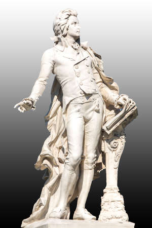 amadeus mozart: La imagen muestra la estatua del famoso compositor Wolfgang Amadeus Mozart Foto de archivo