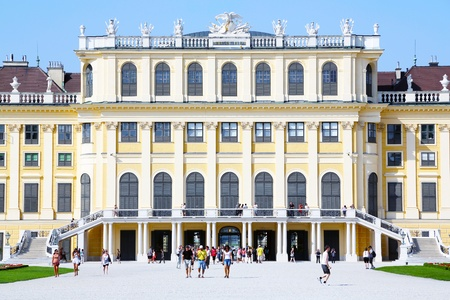 royality: The picture shows the famous Schoenbrunn Palace in Vienna