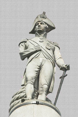 nelson: The picture shows the statue of Admiral Nelson at Trafalgar square.