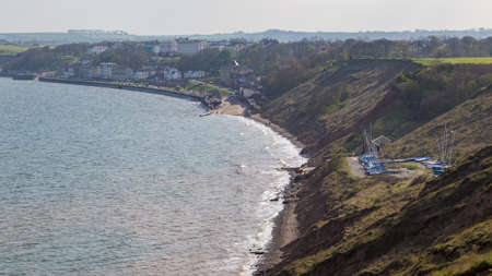 Filey, seen from Filey Brigg, North Yorkshire, UK Stock Photo