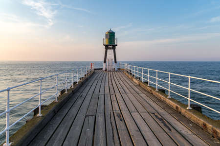 Whitby Pier, North Yorkshire, UK