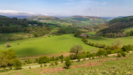 Landscape in the North York Moors between Sutton Bank and Hawnby, North Yorkshire, England, UK