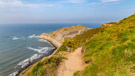 Yorkshire coast in Kettleness, between Whitby and Runswick Bay, North Yorkshire, UK