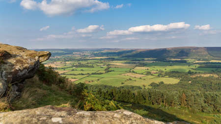 View across the North York Moors near the Wainstones, North Yorkshire, UK