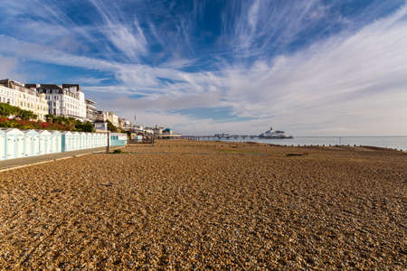 Beach and pier, Eastbourne, East Sussex, UK Reklamní fotografie
