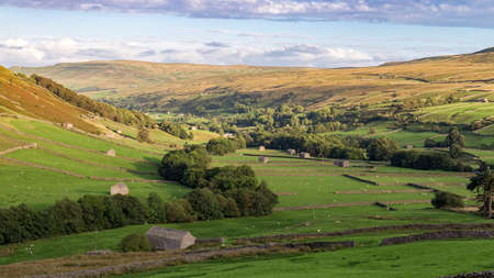 Yorkshire Dales landscape, between Skeugh Head and Thwaite, North Yorkshire, UK