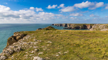 Flimston Bay, near Castlemartin and Merrion, Pembrokeshire, Wales, Uk