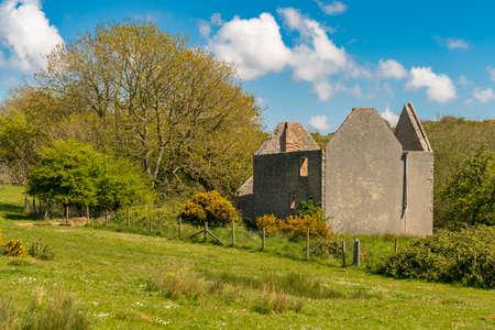 Ruin in the abandoned Tyneham Village, near Kimmeridge, Jurassic Coast, Dorset, UK