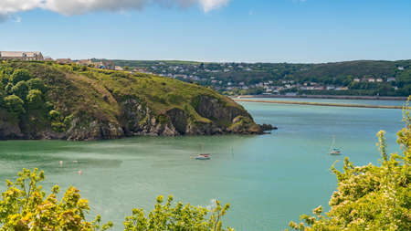 View over Fishguard Bay, Pembrokeshire, Dyfed, Wales, UK Stock Photo