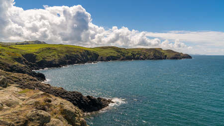 Pembrokeshire Coast at Carreg Onnen Bay, near Goodwick, Dyfed, Wales, UK