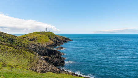 Strumble Head Lighthouse, near Goodwick, Pembrokeshire, Dyfed, Wales, UK