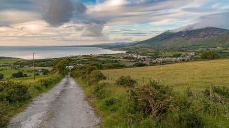 Welsh landscape on the Llyn Peninsula - view over Trefor, Gwynedd, Wales, UK Stock fotó