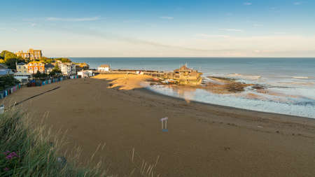A quiet evening at Viking Bay in Broadstairs, Kent, England, UK