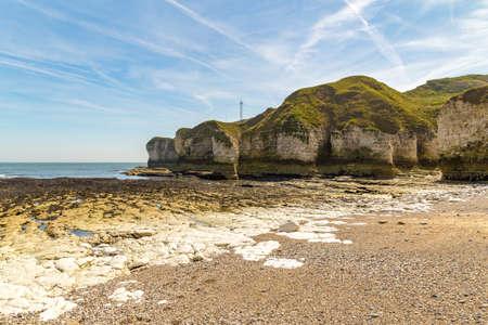 Flamborough Head coast and cliffs near Bridlington, East Riding of Yorkshire, UK