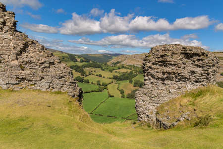 The remains of Castell Dinas Bran near Llangollen, Denbighshire, Wales, UK