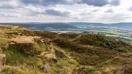 View from Captain Cooks Monument, near Great Ayton across the North York Moors, North Yorkshire, UK