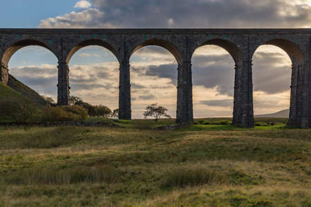 The Ribblehead Viaduct on the Settle-Carlisle Railway, near Ingleton in the Yorkshire Dales, North Yorkshire, UK