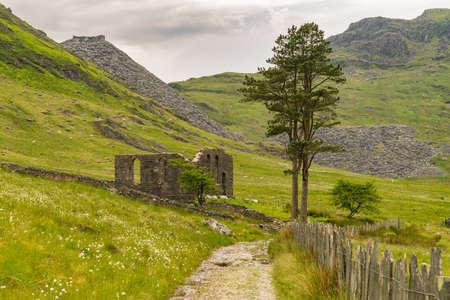 The ruin of Capel Rhosydd near Blaenau Ffestiniog, Gwynedd, Wales, UK Stock Photo