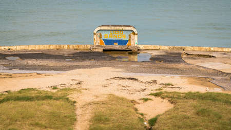 Margate, Kent, England, UK - September 20, 2017: The remains of the abandoned Lido Sands Editorial