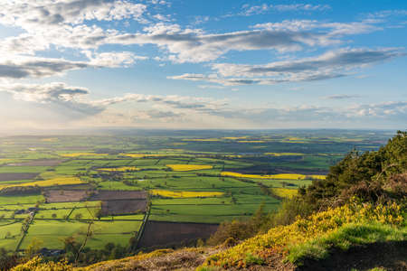 View from the Wrekin, near Telford, Shropshire, England, UK - looking northwest towards Leaton