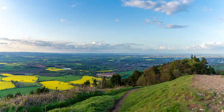 View from the Wrekin, near Telford, Shropshire, England, UK - looking north towards Wellington