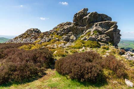 Shropshire landscape at the Stiperstones National Nature Reserve, England, UK
