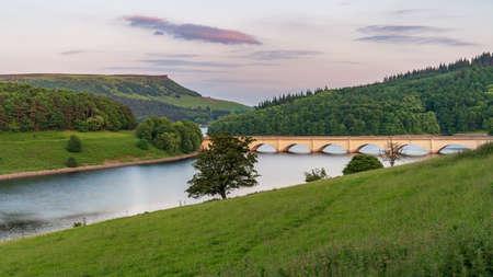 Peak District landscape at the Ladybower Reservoir near Bamford in the East Midlands, Derbyshire, England, UK