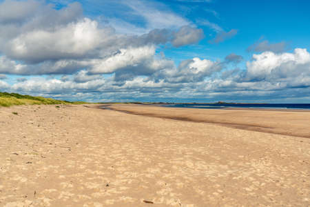 The Beach at Ross Sands, near Seahouses in Northumberland, England, UK