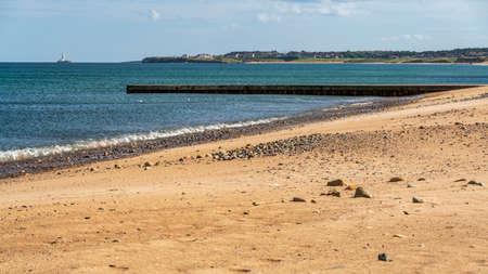 North Sea Coast at the South Beach in Blyth, England, UK