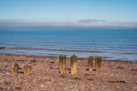 The beach in Blue Anchor, Somerset, England, UK - looking at the Bristol channel