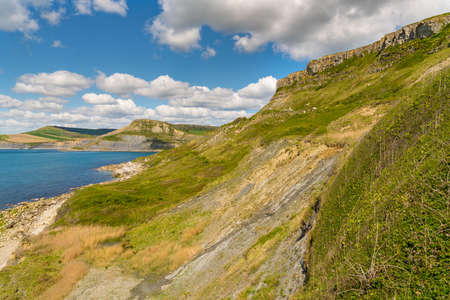 Jurassic Coast landscape at Emmett's Hill near Worth Matravers, Jurassic Coast, Dorset, UK