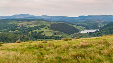 Snowdonia landscape with Llyn Crafnant in the background, seen near Trefriw, Conwy, Clwyd, Wales, UK