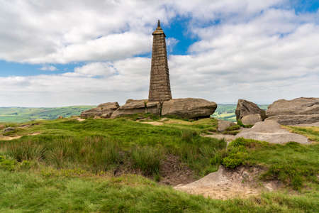 Clouds over Wainman's Pinnacle near Cowling, North Yorkshire, England, UK