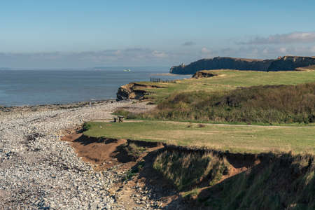Kilve Beach in Somerset, England, UK - looking over the Bristol Channel Stockfoto