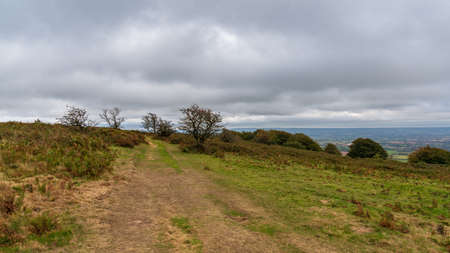 Quantock Hills landscape near West Bagborough, Somerset, England, UK