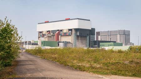 Heysham, Lancashire, England, UK - April 30, 2019: The Heysham Nuclear Power Station